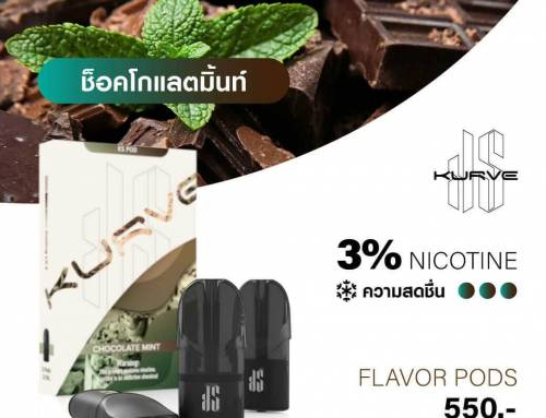 Review KS KURVE POD Chocolate Mint Scent fin don't tell anyone
